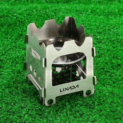 Portable Ultralight Outdoor Camping Folding Wood Stove Pocket Alcohol Stove I8A0