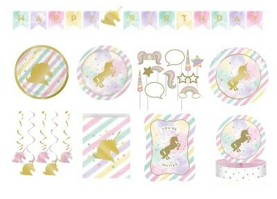 UNICORN SPARKLE Birthday Range NEW Tableware Balloons Decorations Supplies
