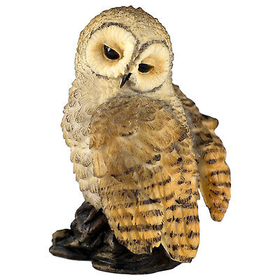 "Mini Spotted Owl Figurine By Veronese Design 2 3/8"" High Resin New In Box!"