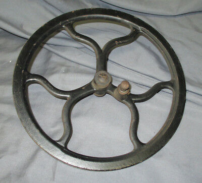 Antique Cast Iron Minnesota Treadle Sewing Machine Flywheel Bearing Steampunk