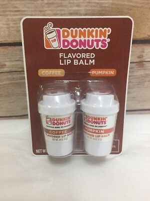 Dunkin Donuts Flavored Lip Balm Coffee Set of 2