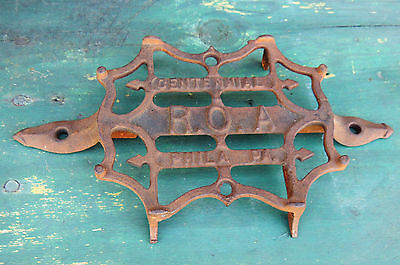 Antique vtg c1876 Philadelphia Centennial ROA Cast Iron Industrial TRIVET Tool