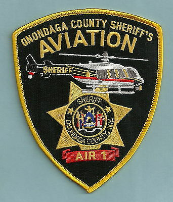 ONONDAGA NEW YORK SHERIFF AVIATION AIR 1 POLICE HELICOPTER SHOULDER PATCH