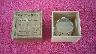 Antique Echarco Jewelers Loupe Magnifying Glass  1897-1910