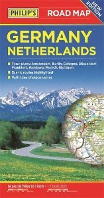 Philip's Germany and Netherlands Road Map 9781849074407 (Paperback, 2017)