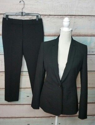 New Ann Taylor Womens Black Dress Career 2Pc. Suit Size 2 Nwt