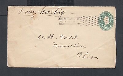 USA 1870s DAIRY STATUES POLITICAL MEETING NOTICE & PS COVER CLEVELAND OHIO