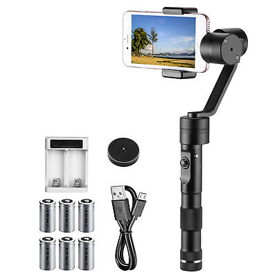 Neewer Gimbal Z1-Smooth-C 3 Assi con 6 Batterie Ricaricabili per Smartphone