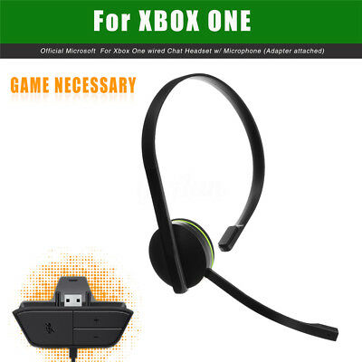 For Xbox One 120cm Wired Chat Headset Headphone Games With Microphone Adapter