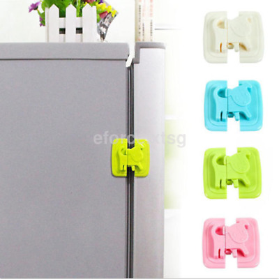 Mini Cute Kids Care Safety Security Cabinet Lock Fridge Door Cabinet Locks US