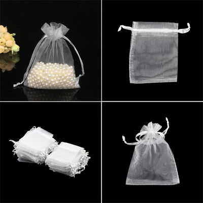 100pcs 7x9cm Drawstring Organza Pouch Gift DIY Package Jewelry Party Bags