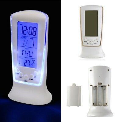 Fashion LED Display Digital Backlight Alarm Clock Snooze Thermometer Calendar