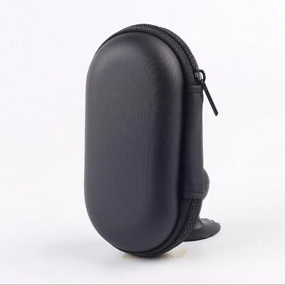 Black Portable Hard Case Storage Bag For Earphone Headphone Earbud Mp3 USB Cable