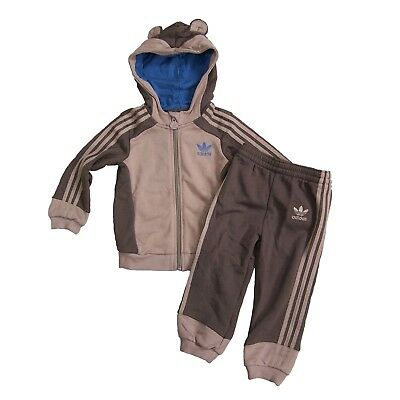 adidas Originals Kinder Monkey Trainingsanzug Baby Sport Anzug Affe Braun