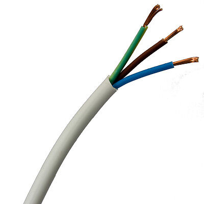 0.75mm 3 core White Flexible Cable 2183Y 5 metre pack