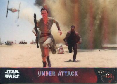 Star Wars Force Awakens Chrome Complete 100 Card Refractor Base Set