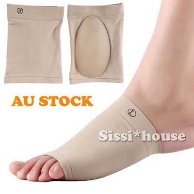 ARCH Support Shoe Gel Insole Flat Feet Pad PAIN RELIEF Plantar Fasciitis Foot AU