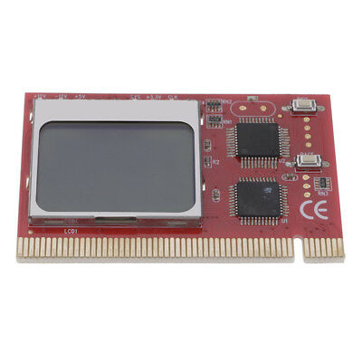 1.6In Red PCI Interface LCD Display Debug Motherboard Testing Diagnostic Cards