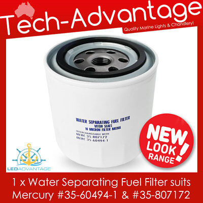 Boat Water Separating Fuel Filter Outboard  (Mercury 35-60494-1 & 35-807172)
