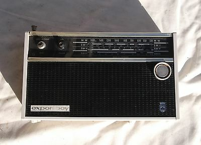 Old Classic Grundig Export Boy Radio with Carry Case