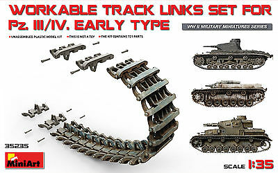 MINIART 35235 Workable Track Links Set for Pz.Kpfw.III/IV Early Type in 1:35