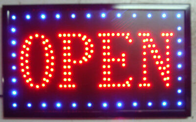 Led Bar Sign Pub Club Window Display Light Lamp Restaurant Shop Takeaway Open