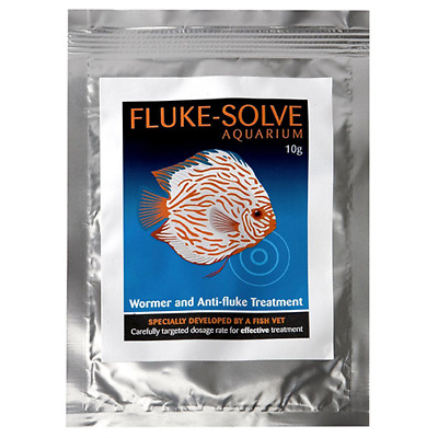 Vetark Fluke-Solve Aquarium Fish Tank Fluke Parasite and Wormer Treatment 10g