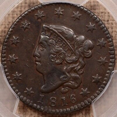 1816 N.8 Matron Head Large cent, PCGS XF45, pleasing orig    DavidKahnRareCoins