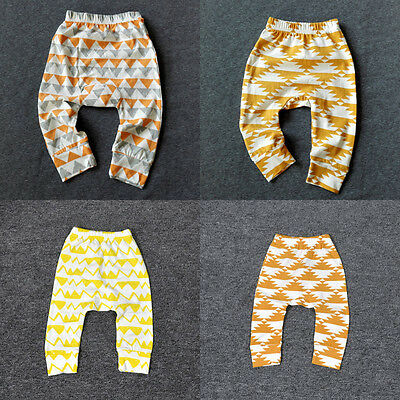 Baby Toddler Boys Girls Autum Cotton Legging PP Pant 3 Colors 0-3 Years UK Stock