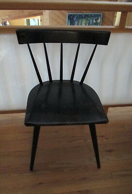 Vintage Mid Century Paul McCobb Planner Group Black Windsor Dining Office Chair