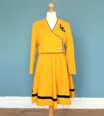Vintage 60's / 70's American Band / Cheerleader Outfit Retro Boho Fancy Dress 10