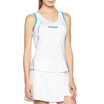 Babolat Performance Womens Sleeveless Core Tank Top Vest - White