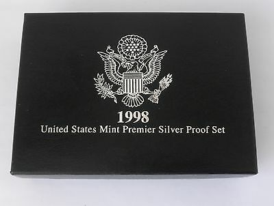 1998 Five-Coin US Mint PREMIER Silver Proof Set in Original Packaging
