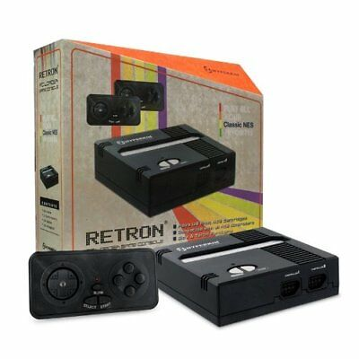 Hyperkin RetroN 1 Top Load Gaming Console + Two Controllers for NES, Black, New