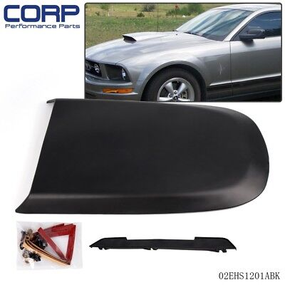 New Racing Hood Scoop Black For 2005-2009 Ford Mustang GT V8