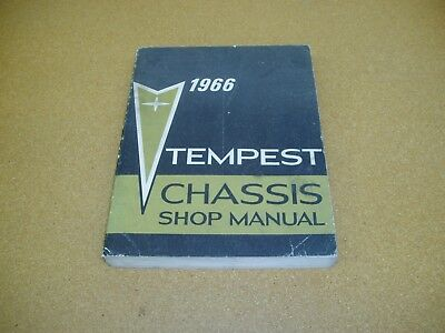 1966 Pontiac Tempest LeMans GTO service shop ORIGINAL dealer repair manual