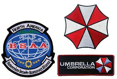 Resident Evil Umbrella Corporation North America BSAA Embroidered [3 Patches]