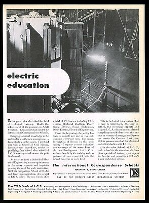 1945 power transformer photo ICS school vintage print ad