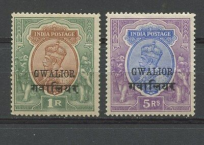 India Postage, Gwalior, King George Vi & Local Motives, Stamps India
