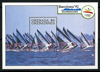 Grenada, Hoja Bloque, The Olympic - Barcelona 1992,  Barcos