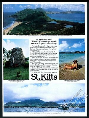 1981 St. Kitts and Nevis 4 color photo vintage travel print ad