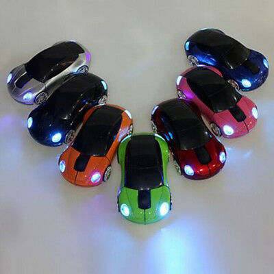 Car Shape 2.4GHz Wireless Cordless Optical Mouse Mice USB Receiver for PC Laptop