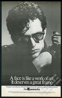 1985 Rupert Everett photo L.A. Eyeworks glasses BIG vintage print ad
