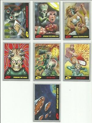 2017 Topps Mars Attacks The Revenge Silver Parallel Card Serial #ed 10 YOU PICK