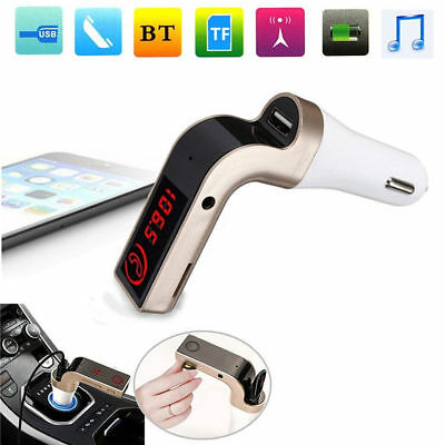 New Car Kit Car Charger Wireless Bluetooth Handsfree FM Transmitter Stereo MP3