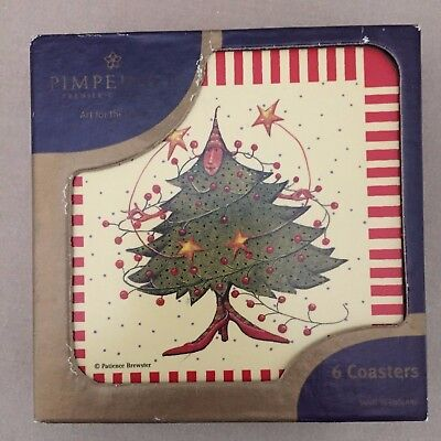 Pimpernel Premier Collection Patience Brewster Christmas Folly Set Of 6 Coasters