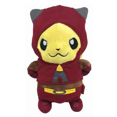 "New Pokemon Go Pikachu With Team Magma Suit 8"" Plush Toy Stuffed Animal Doll"