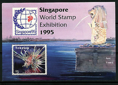 Singapur, Hoja Bloque, World Stamp Exhibition, 1995