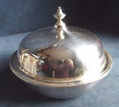 "SUPERB 7"" ~ ELKINGTON ~ SILVER Plated ~ 8"" Muffin SERVING DISH ~ c1900"