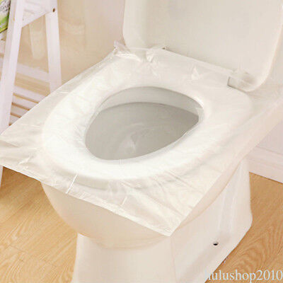 10pcs Anti-Bacterial Disposable Toilet Seat Cushion Covers For Travel Camp